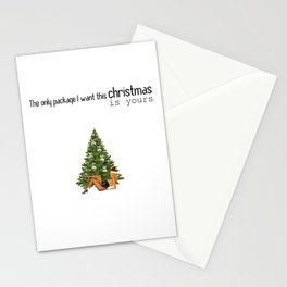 Sexy Christmas Special - Naughty Xmas Wish - The only package I want this Christmas is yours Stationery Cards