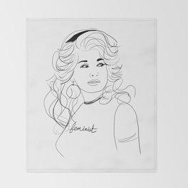 Feminist Dolly Throw Blanket