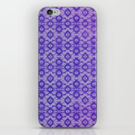 blue tie dye in small repeat iPhone Skin