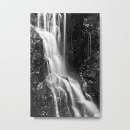 Avalon Falls - Black & White Metal Print
