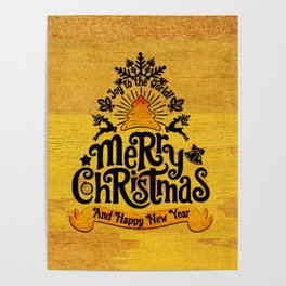 -A25- Arteresting Merry Christmas Artwork Carpet Texture. Poster