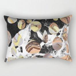 Marble cut out dots Rectangular Pillow