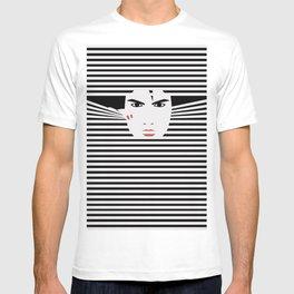 Peeking Man (Black) T-shirt