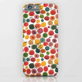 Rainbow Candy Dots iPhone Case