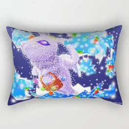 'You Cracked the Egg' Series - Easter Angelic Bunny with Premium Background Rectangular Pillow