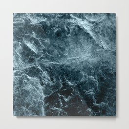 Enigmatic Deep Blue Ocean Marble #1 #decor #art #society6 Metal Print