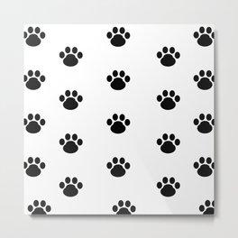 Puppy Dog Paw Prints Metal Print