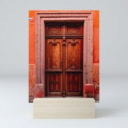 Old door in San Miguel de Allende   Travel photography Mini Art Print