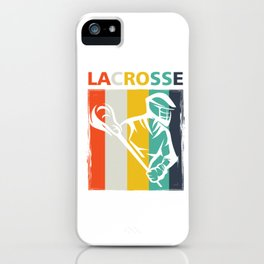 Retro Lacrosse Players Field Sports Team Lax Sticks Gifts iPhone Case