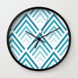Geometric triangle pattern vector Arrow design pattern Wall Clock