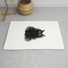 Duster - Black Cat Drawing Rug