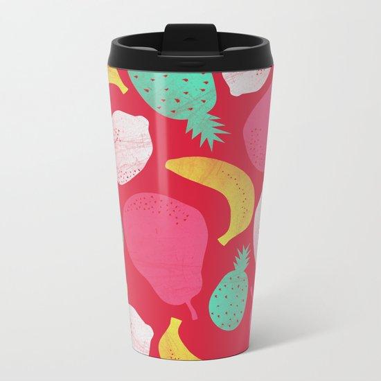 Fruit Salad Metal Travel Mug