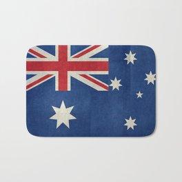 "Australian flag, retro ""folded"" textured version (authentic scale 1:2) Bath Mat"