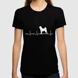 Heart Beat Shiba Inu Shiba Inu Dog Lover Japanese Puppy Gift T-shirt
