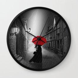 Alone in the rainy night Wall Clock