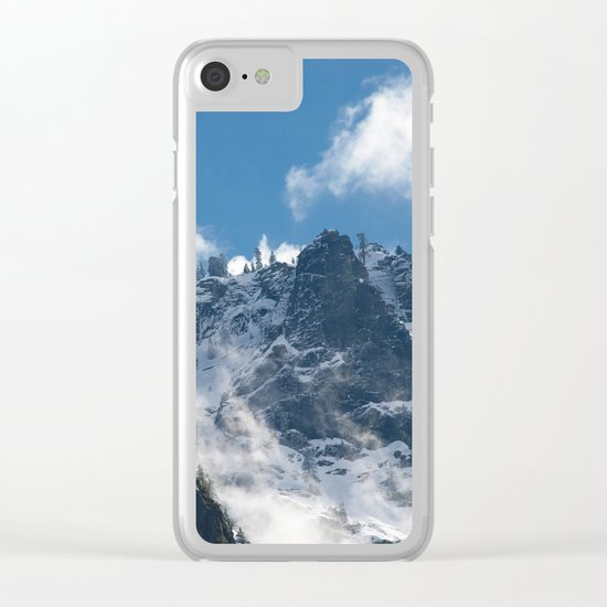 Snow Covered Peaks in Yosemite National Park Clear iPhone Case