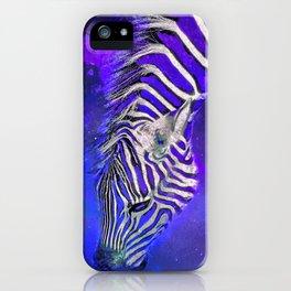 Night Sky Zebra Ultra Violet iPhone Case