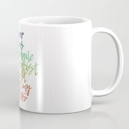The Bigliest Word You've Ever Heard! Bright Rainbow Coffee Mug
