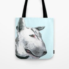 Bullterier, printed from an original painting by Jiri Bures Tote Bag