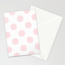 Geometric Orbital Circles In Pale Delicate Summer Fresh Pink & White Stationery Cards