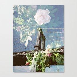 film double, manhattan bridge Canvas Print