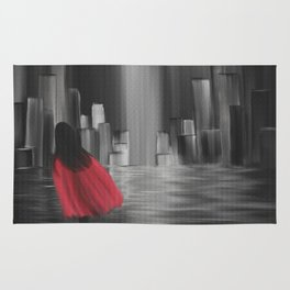 Girl With A Red Cape Rug