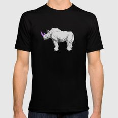 Party Animal - Rhino Mens Fitted Tee SMALL Black