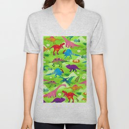 Joyful dinosaur world - GBG Unisex V-Neck