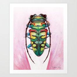 Spring Beetle Art Print