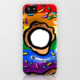 Donut lgbt rainbow flag gay lesbian queer bi iPhone Case