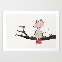 Little Mouse - Robin Art Print