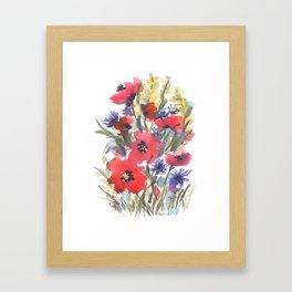 Big Poppy Field Framed Art Print