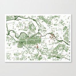 Berlin city map minimal Canvas Print