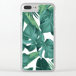Tropical Summer Jungle Leaves Dream #2 #tropical #decor #art #society6 Clear iPhone Case