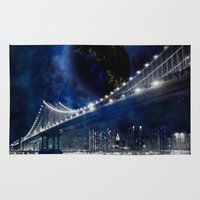new york city Area & Throw Rugs featuring New!! New York City by Simone Gatterwe