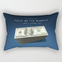 Show Me The Money - USD on Jeans Rectangular Pillow