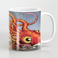 milwaukee Mugs featuring MILWAUKEE: What's Kraken, Milwaukee? by Amanda Iglinski