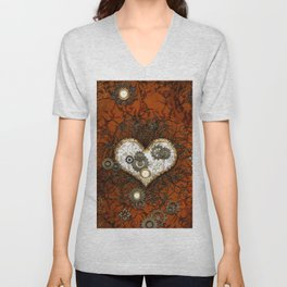 Steampunk, wonderful heart Unisex V-Neck