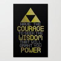 motivational Canvas Prints featuring Triforce Motivational by JesseThomas