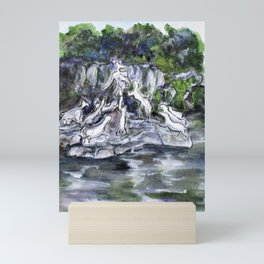 Actaeon Fountain Caserta Mini Art Print