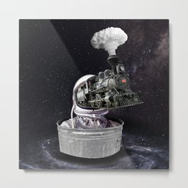 Heading to The Space Metal Print