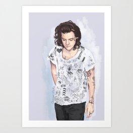 Harry 1D tattoos T-shirt Art Print