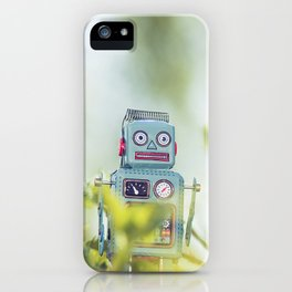 Robot in Nature iPhone Case
