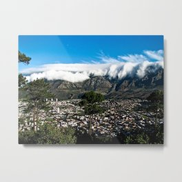 Table Mountain Cape Town Cityscape, South Africa Metal Print