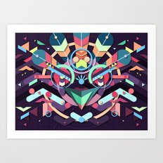 BirdMask Visuals - Peacock Art Print