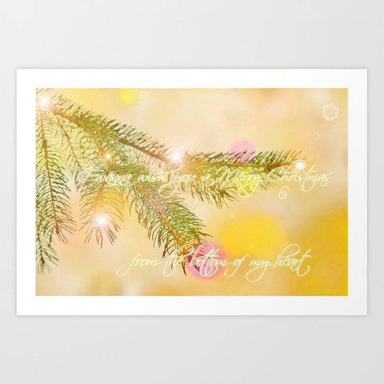 I wanna wish you a merry christmas Art Print