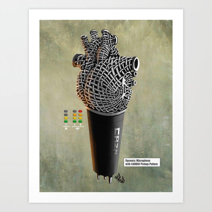 CRZN Dynamic Microphone - 002 Art Print