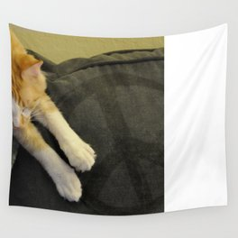 Peaceful Cat Wall Tapestry
