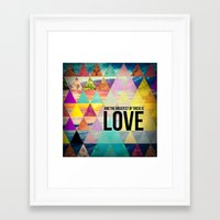 "pocketfuel Framed Art Prints featuring 1 Corinthians 13:13 ""And the greatest of these is Love"" by Pocket Fuel"