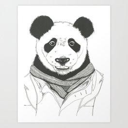 Dapper Peter Panda Art Print